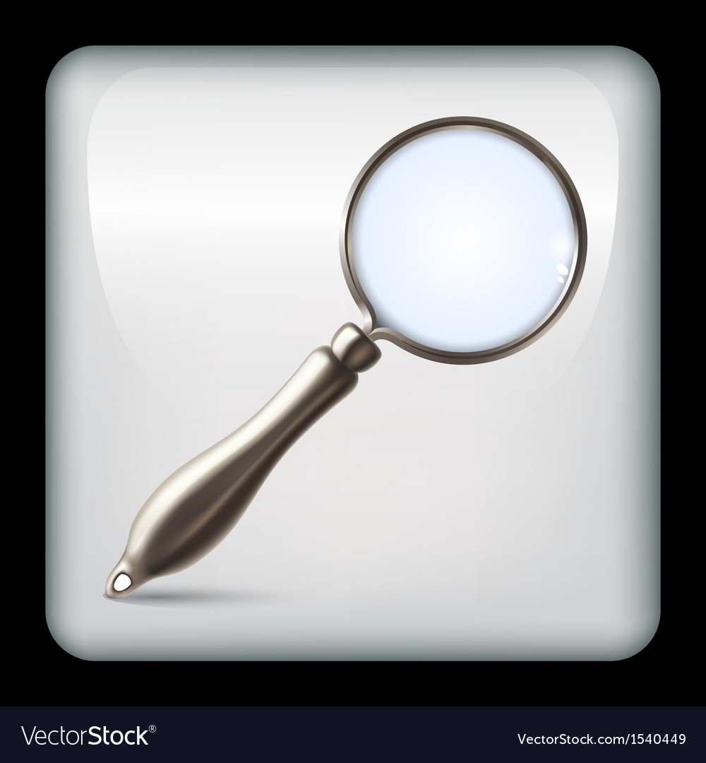 Icon with realistic magnifying glass vector | Price: 1 Credit (USD $1)