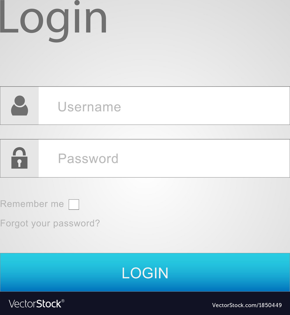 Login interface - username and password vector | Price: 1 Credit (USD $1)