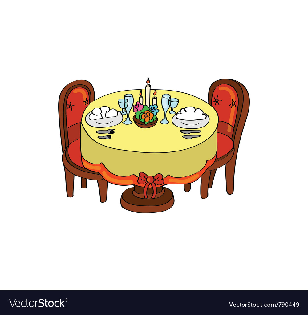 Romantic dinner table vector | Price: 1 Credit (USD $1)