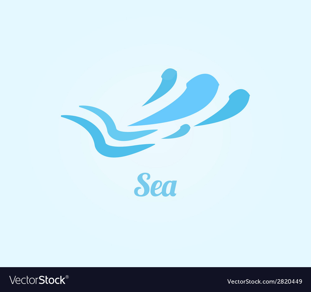 Sea icon vector | Price: 1 Credit (USD $1)
