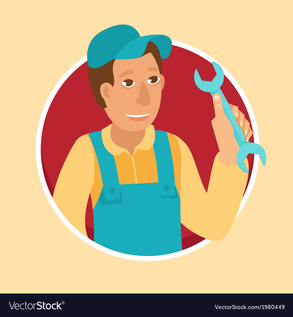Service man vector | Price: 1 Credit (USD $1)