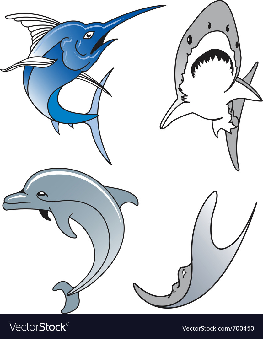 Aquatic wildlife vector | Price: 1 Credit (USD $1)