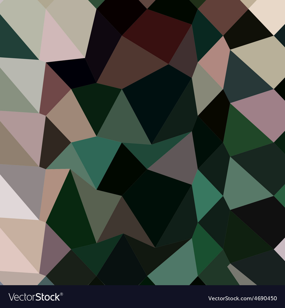 Dark moss green abstract low polygon background vector | Price: 1 Credit (USD $1)