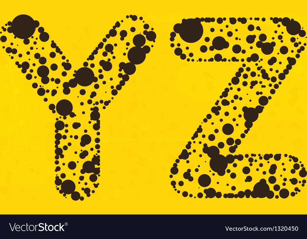 Dot alphabet from y to z vector   Price: 1 Credit (USD $1)