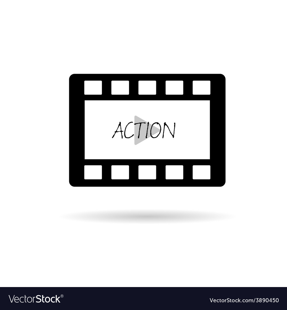 Film tape action vector | Price: 1 Credit (USD $1)