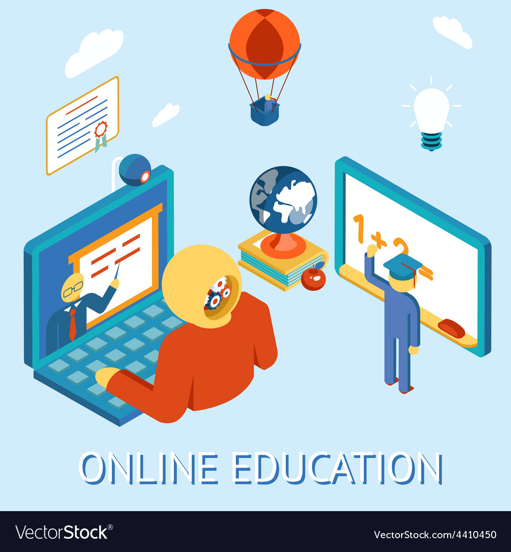 Online education vector | Price: 1 Credit (USD $1)