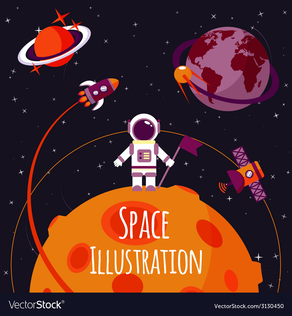 Space flat vector | Price: 1 Credit (USD $1)