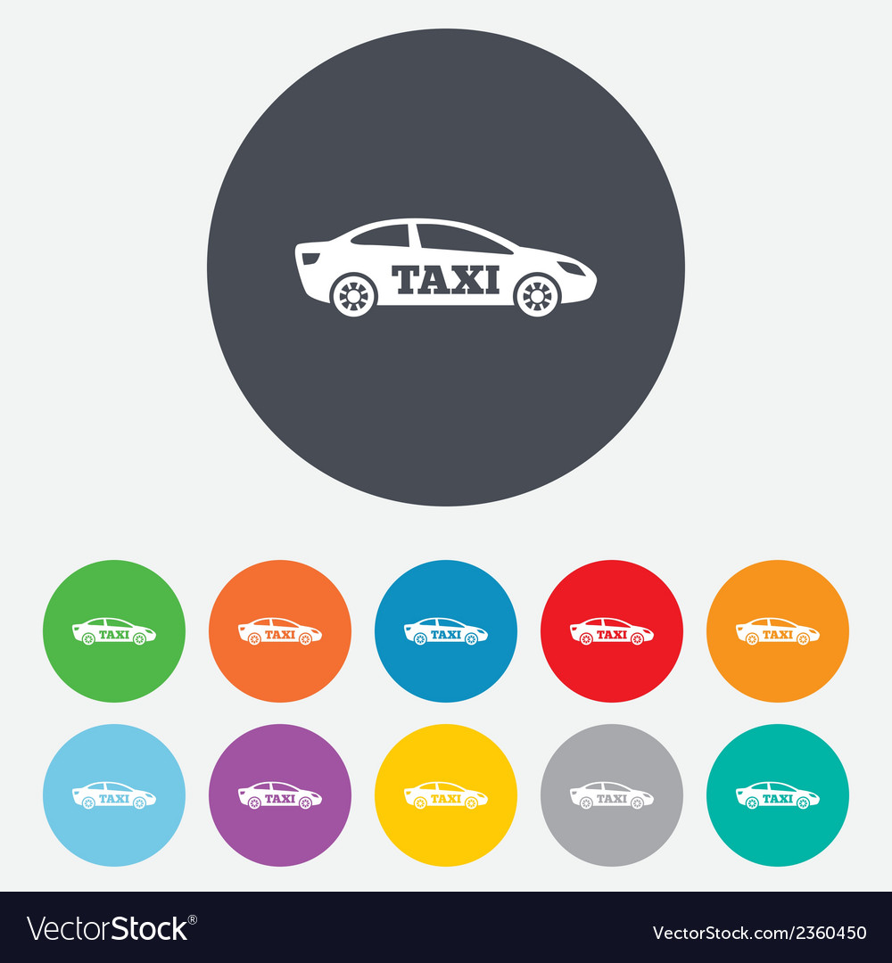 Taxi car sign icon sedan saloon symbol vector | Price: 1 Credit (USD $1)