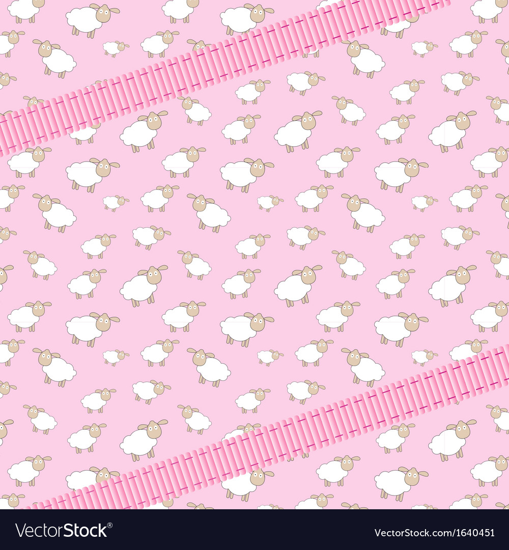 Abstract lamb background with ribbon vector | Price: 1 Credit (USD $1)