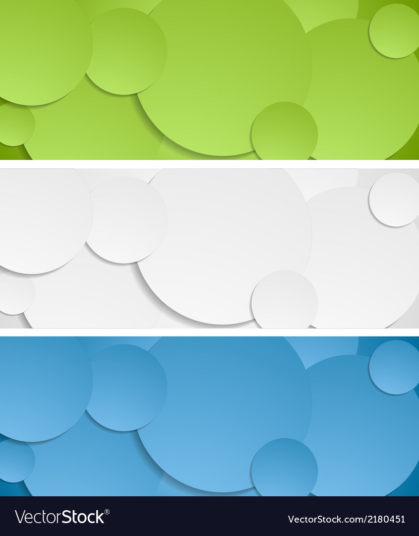 Bright circles banners vector | Price: 1 Credit (USD $1)