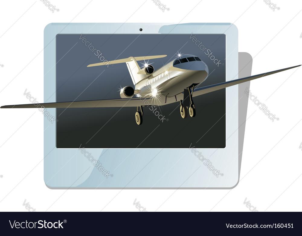 Business jet vector | Price: 3 Credit (USD $3)