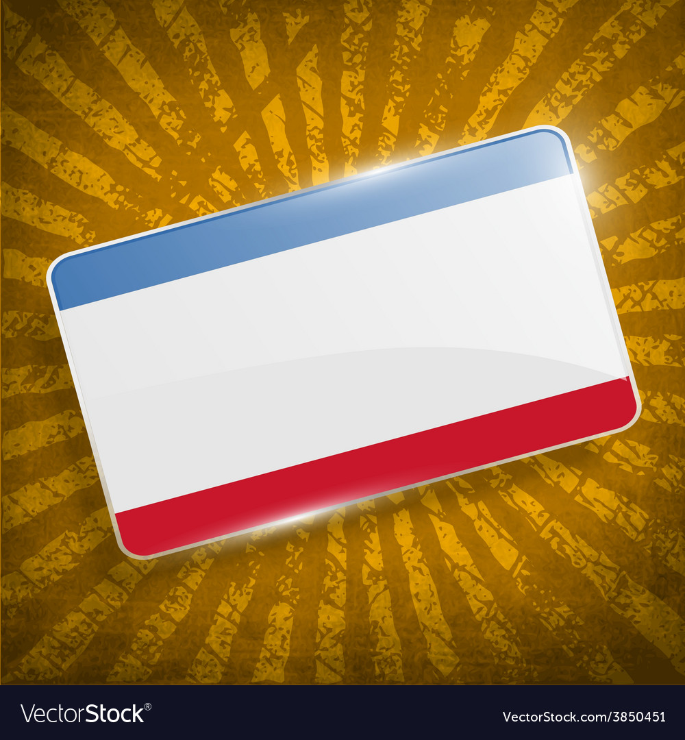 Flag of crimea with old texture vector | Price: 1 Credit (USD $1)