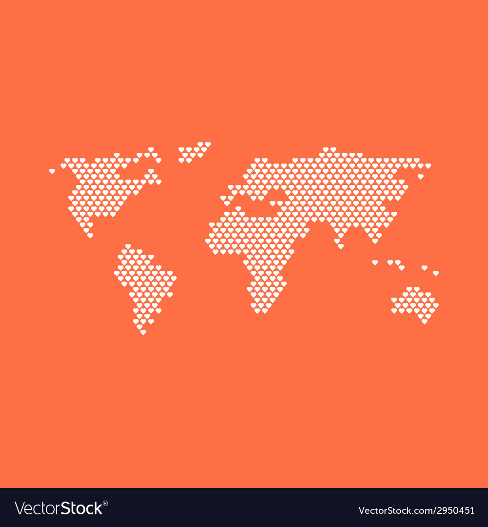 Love the world vector | Price: 1 Credit (USD $1)