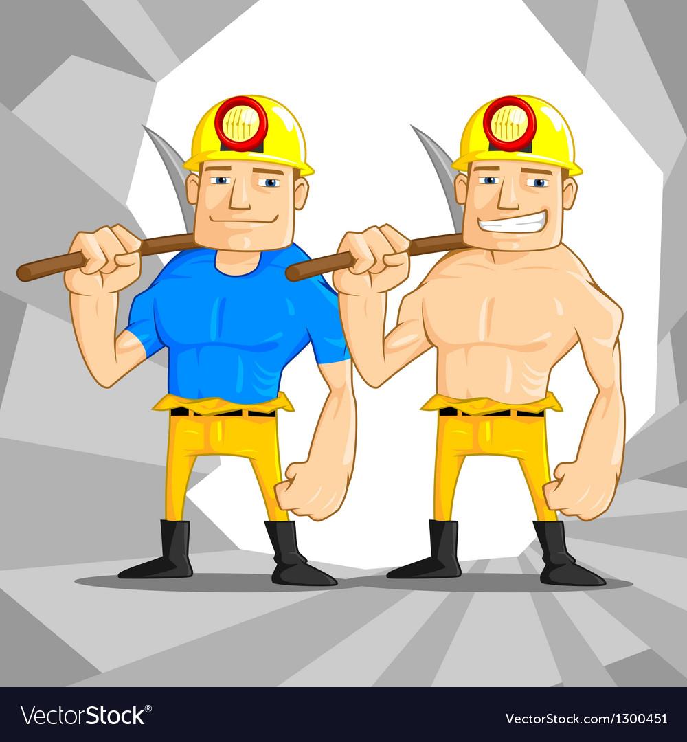 Mine worker vector | Price: 3 Credit (USD $3)