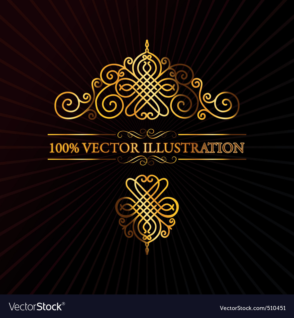Ornament calligraphic vector elements vector | Price: 1 Credit (USD $1)