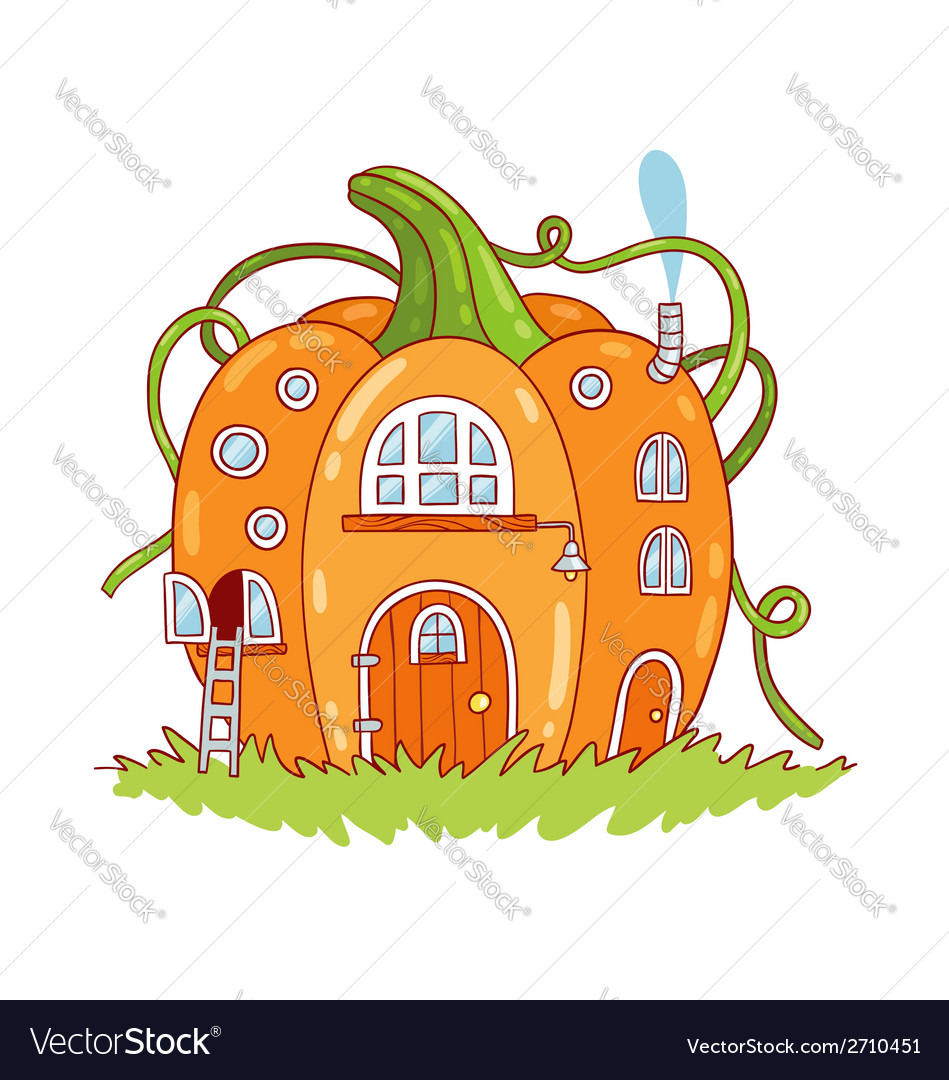 Pumpkin house vector | Price: 1 Credit (USD $1)