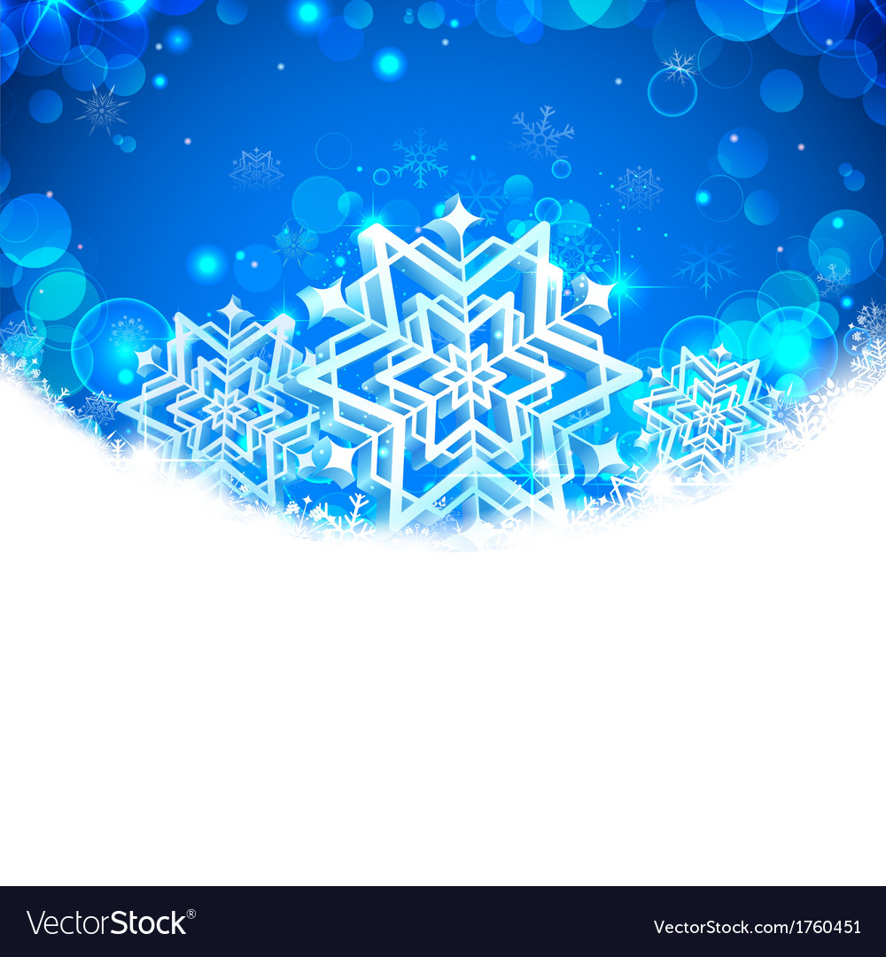 Snowflakes christmas banner vector | Price: 1 Credit (USD $1)