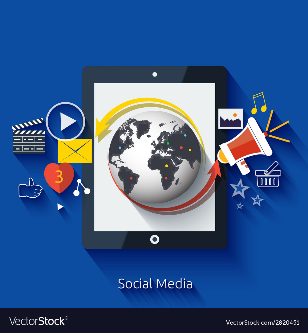 Social media cloud of application icons vector | Price: 1 Credit (USD $1)