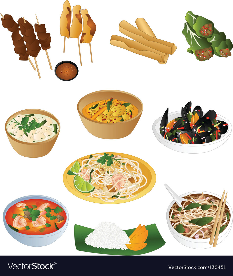 Thai prepared food vector | Price: 3 Credit (USD $3)
