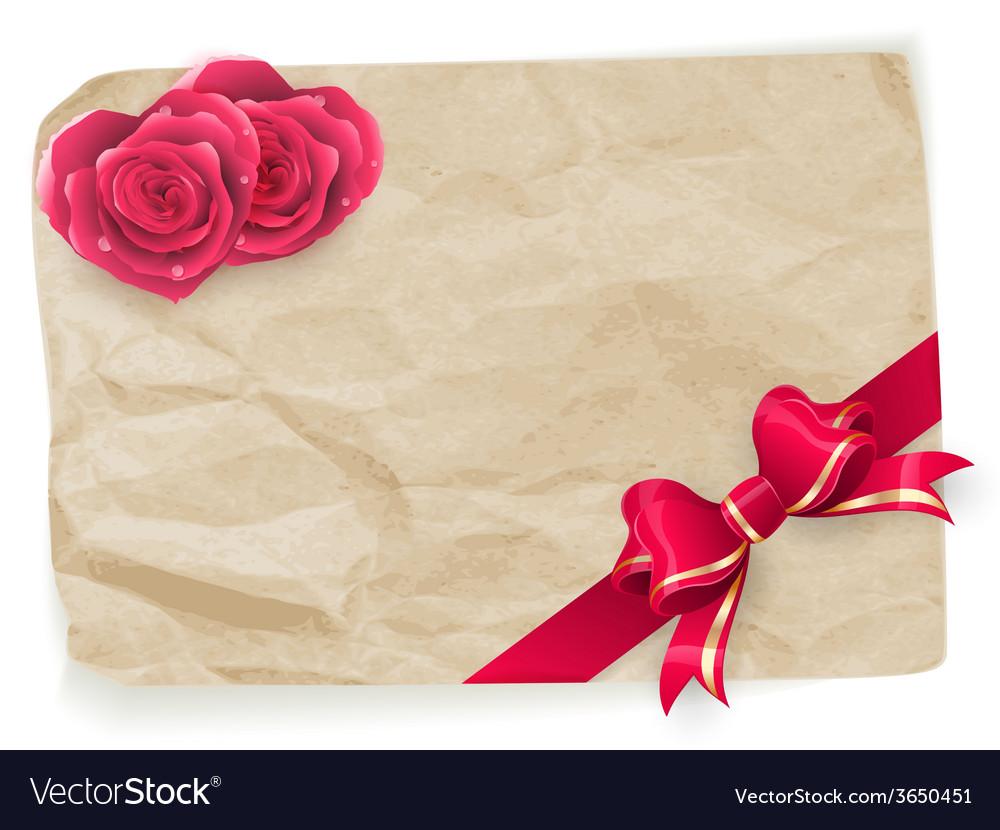 Valentine vintage card eps 10 vector | Price: 1 Credit (USD $1)