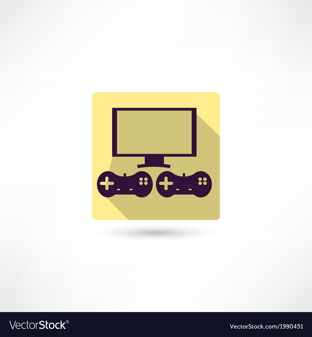 Video games icon vector | Price: 1 Credit (USD $1)