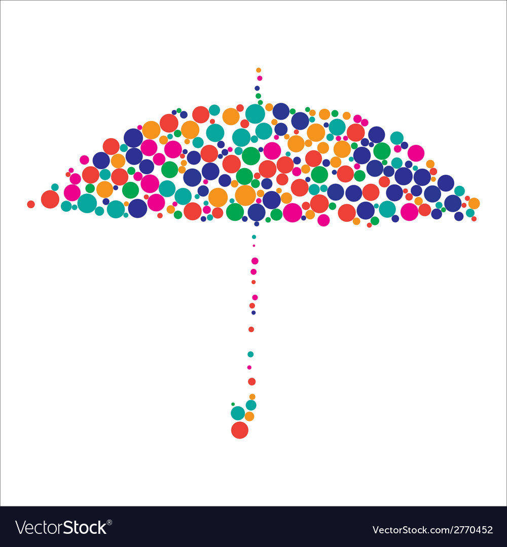 Colorful umbrella vector | Price: 1 Credit (USD $1)