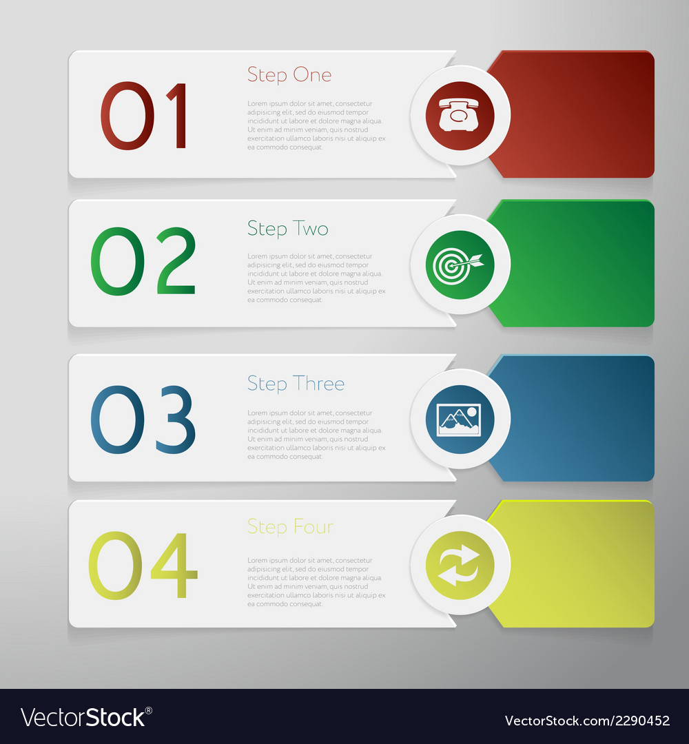Design number banners template graphic or website vector   Price: 1 Credit (USD $1)