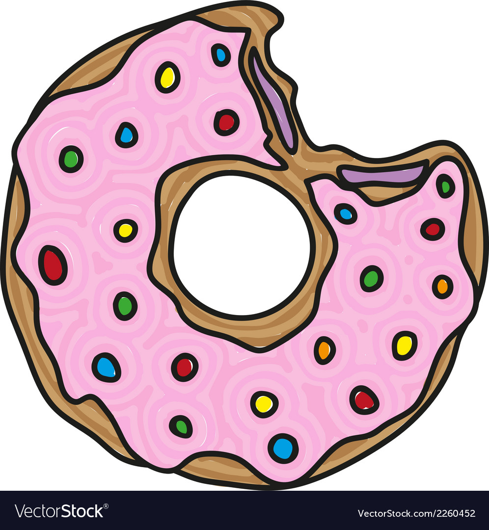 Doodle donut vector | Price: 1 Credit (USD $1)
