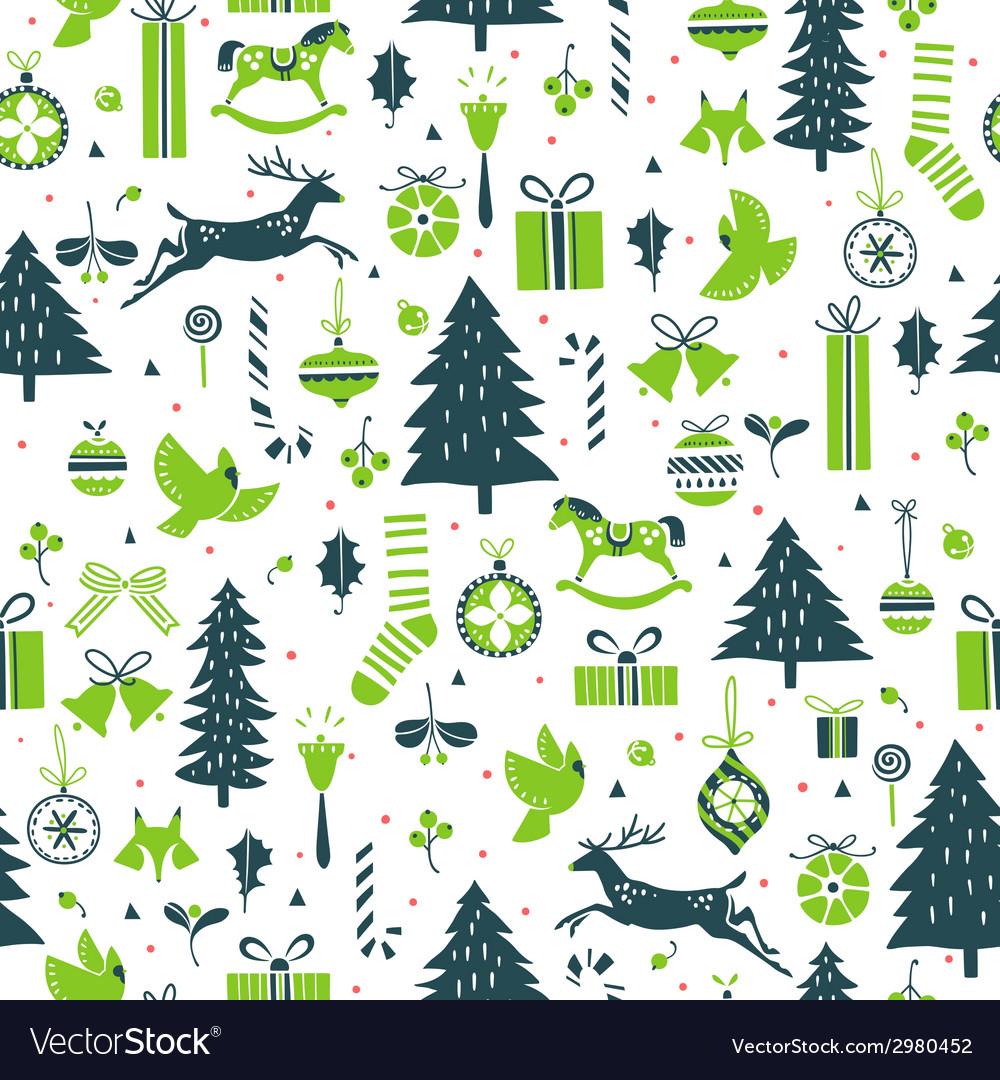 Festive winter pattern vector