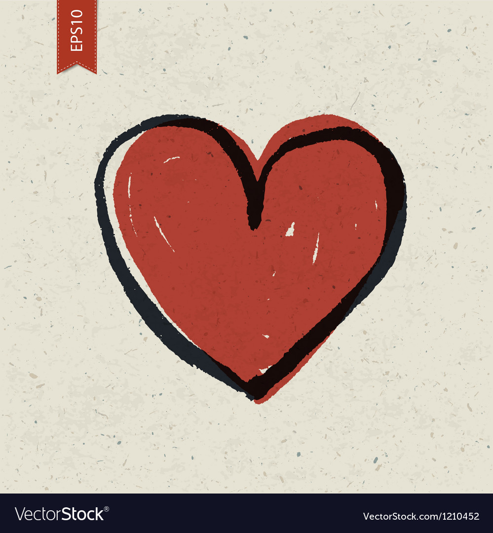 Heart symbol on paper vector | Price: 1 Credit (USD $1)