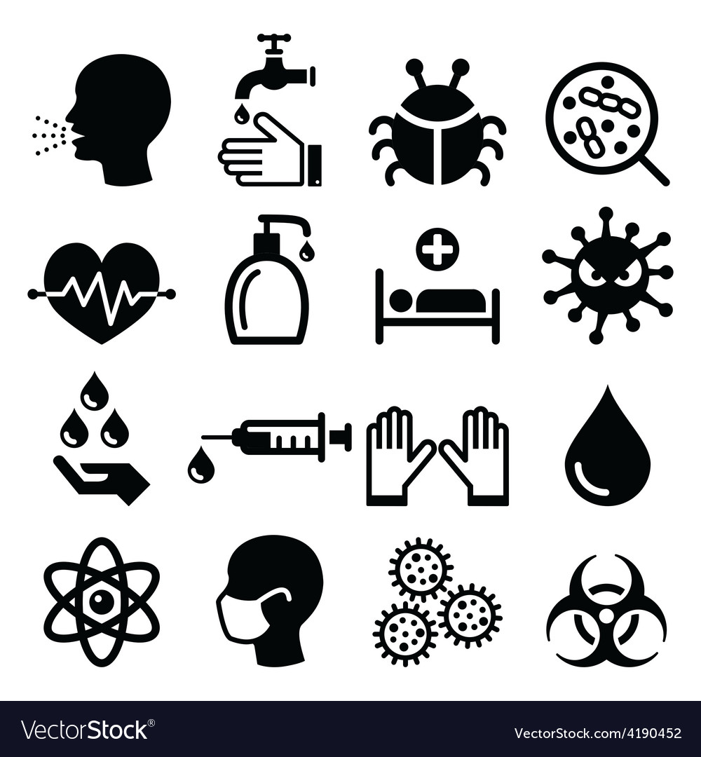 Infection virus - health icons set vector | Price: 1 Credit (USD $1)