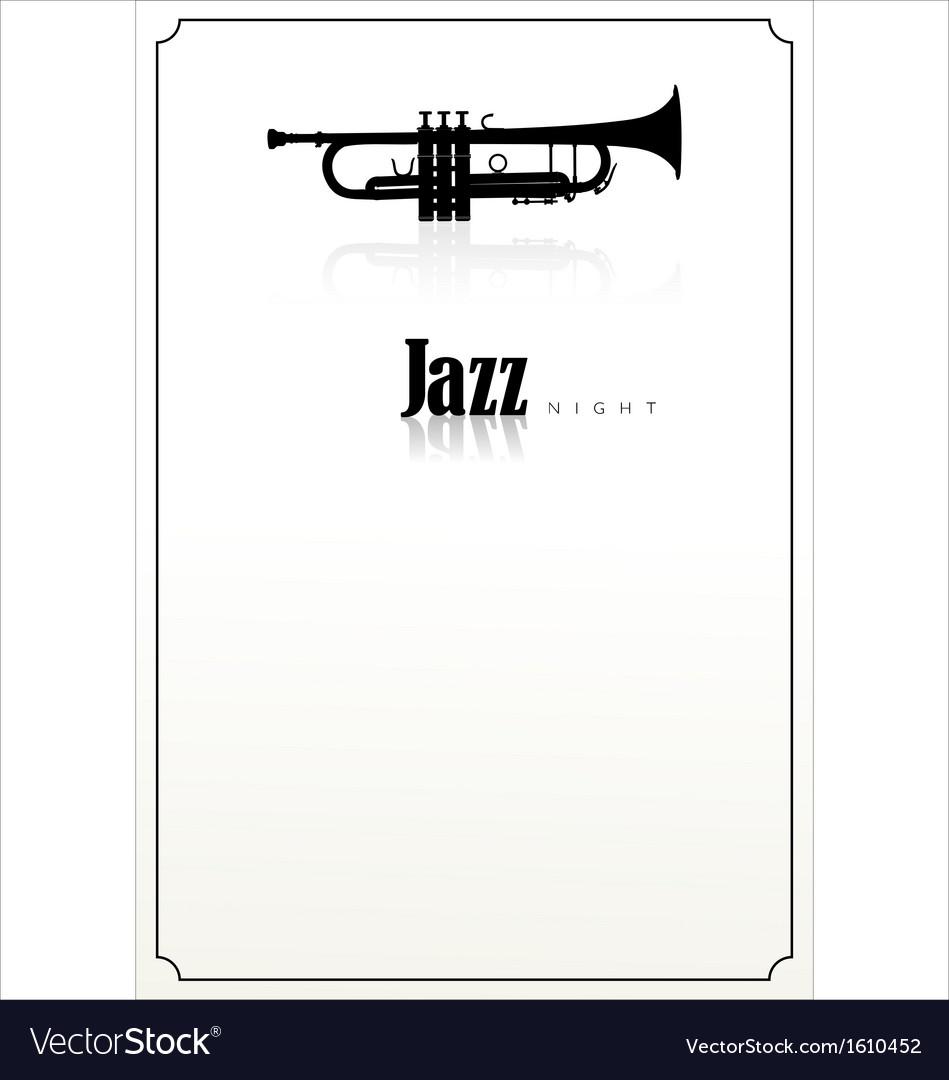 Jazz background vector