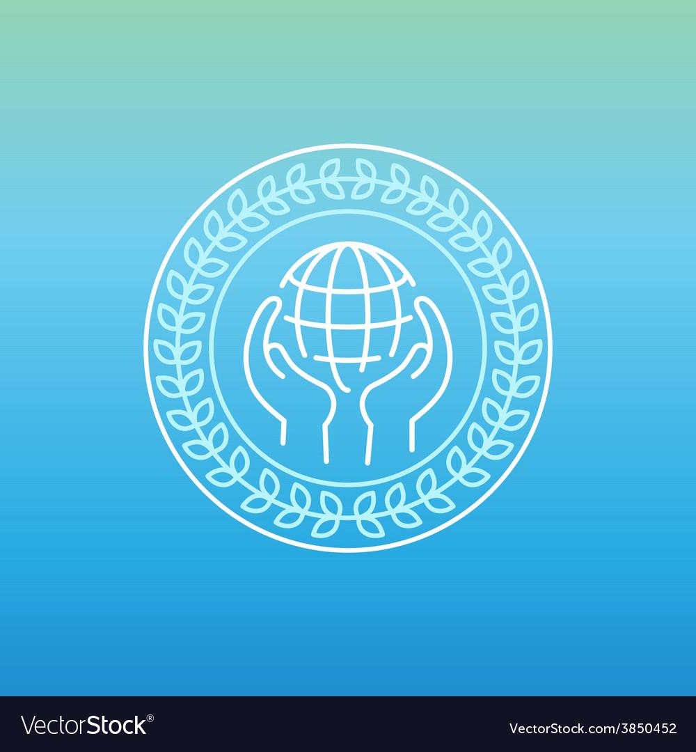 Line peace logo vector | Price: 1 Credit (USD $1)