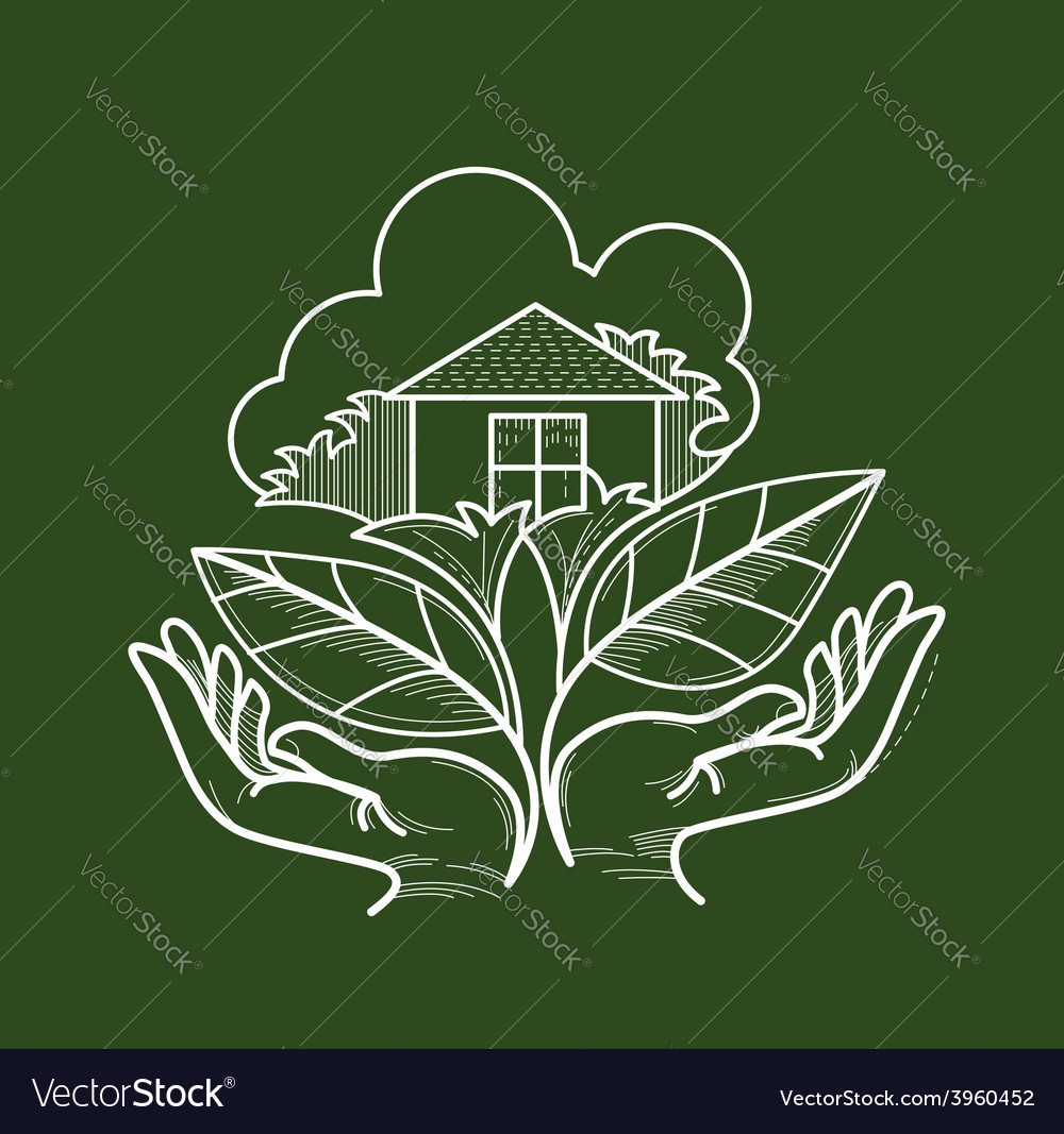 Living green vector | Price: 1 Credit (USD $1)