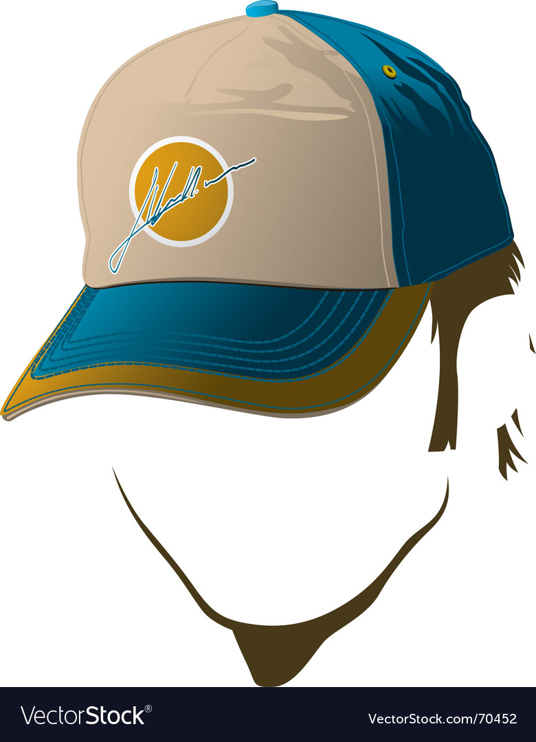 Male face with baseball cap vector | Price: 1 Credit (USD $1)