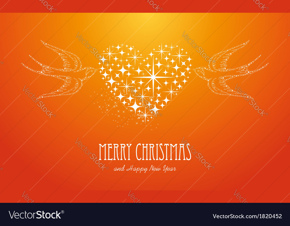 Merry christmas and happy new year stars greeting vector | Price: 1 Credit (USD $1)