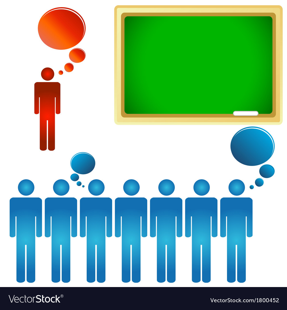 Teacher and a class vector   Price: 1 Credit (USD $1)