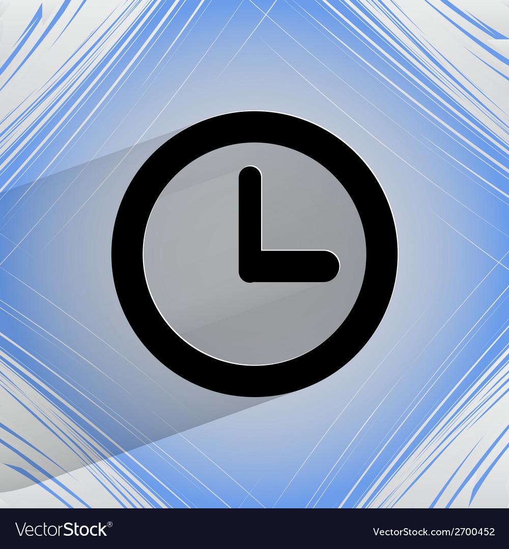 Watch flat modern web design on a flat geometric vector | Price: 1 Credit (USD $1)
