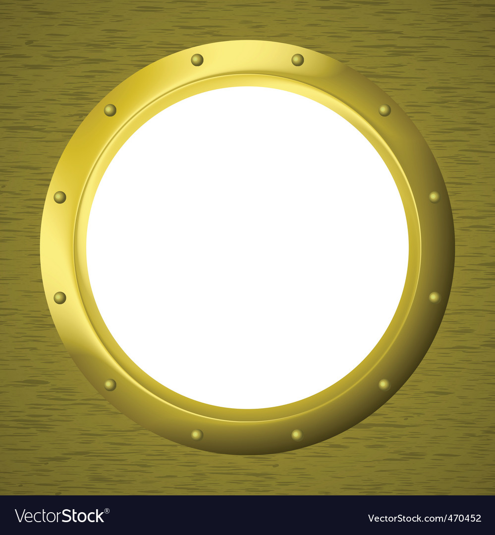 Window porthole in a wall vector | Price: 1 Credit (USD $1)