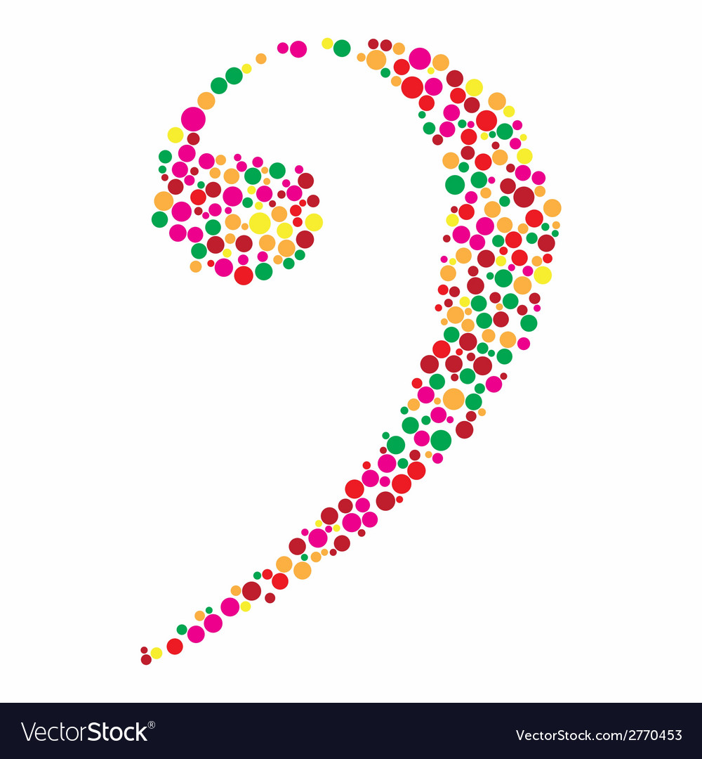 A colorful clef vector | Price: 1 Credit (USD $1)