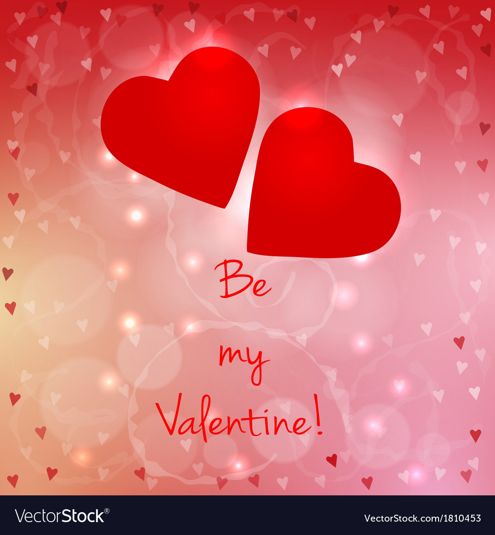 Be my valentine card vector | Price: 1 Credit (USD $1)