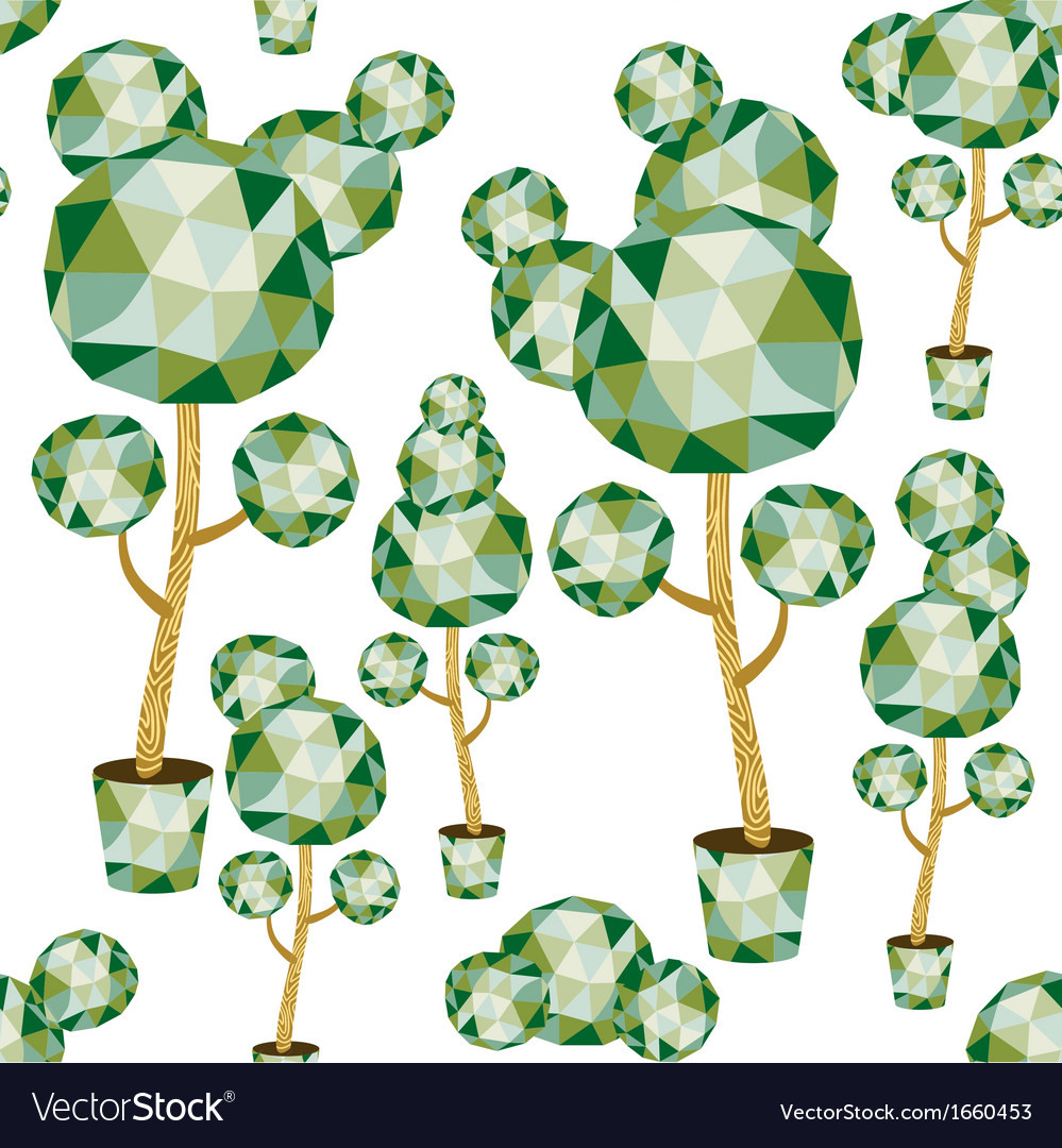 Garden from polygonal trees vector | Price: 1 Credit (USD $1)