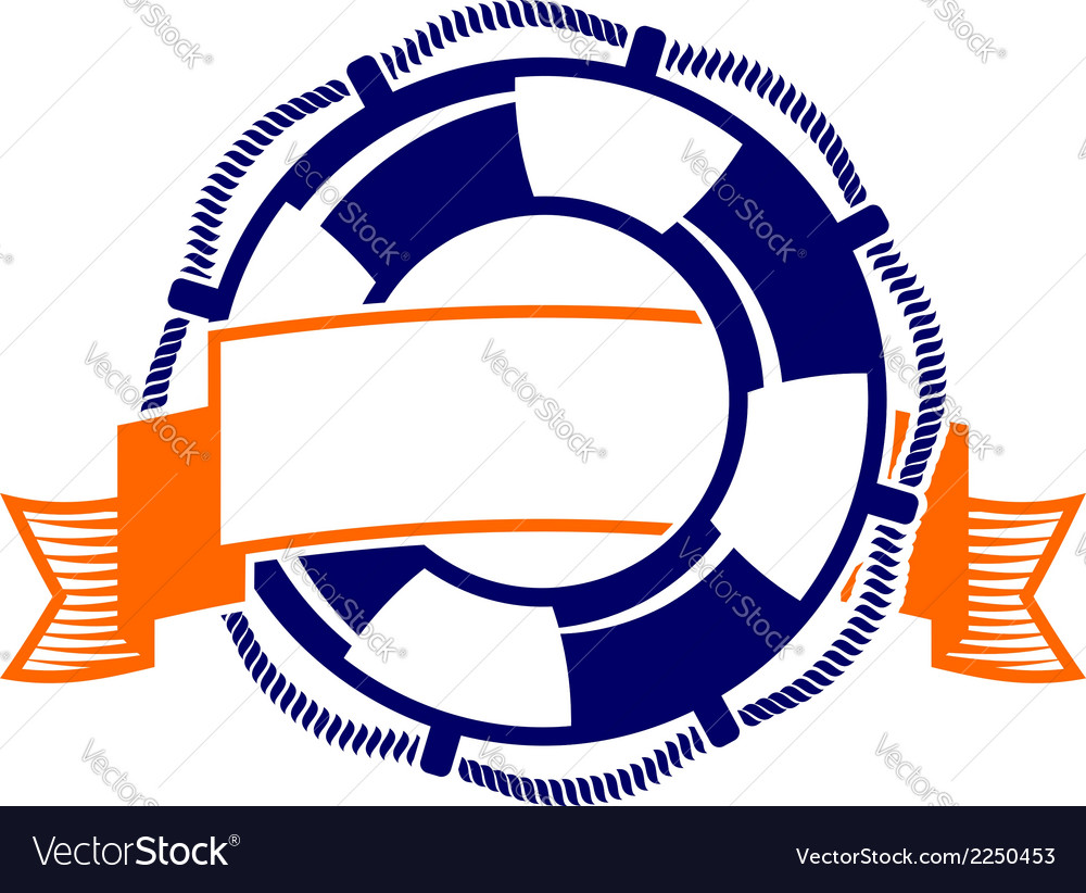 Lifebuoy with banner symbol vector | Price: 1 Credit (USD $1)
