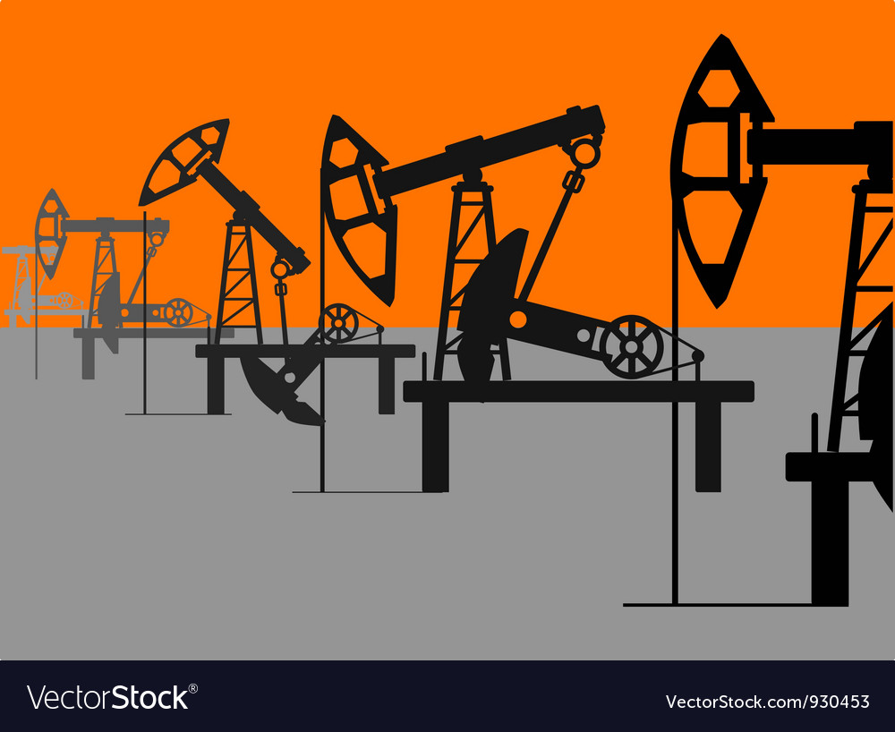 Oil factory vector | Price: 1 Credit (USD $1)