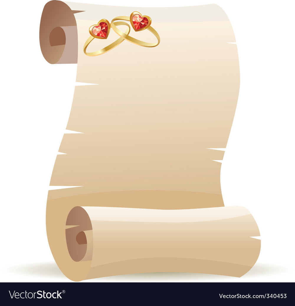 Old scroll for wedding invitation vector | Price: 1 Credit (USD $1)