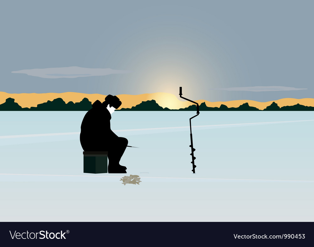 Winter fishing vector | Price: 1 Credit (USD $1)