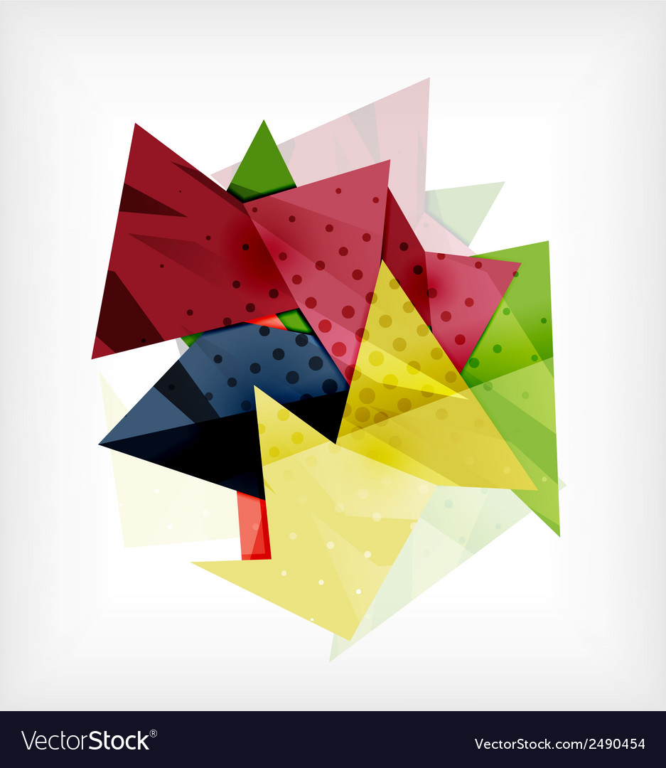 Abstract 3d triangle blank background vector | Price: 1 Credit (USD $1)