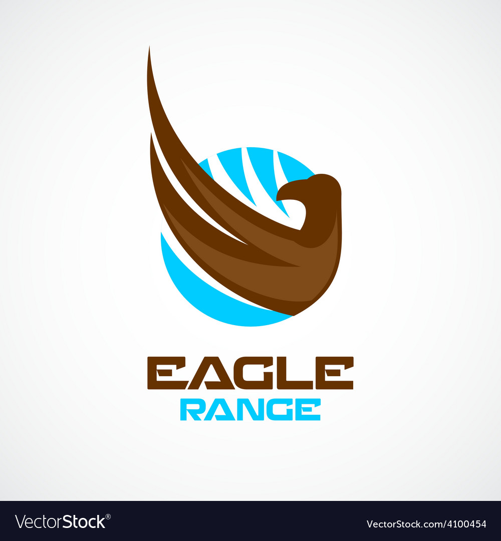 Eagle wing and head logo template vector | Price: 1 Credit (USD $1)