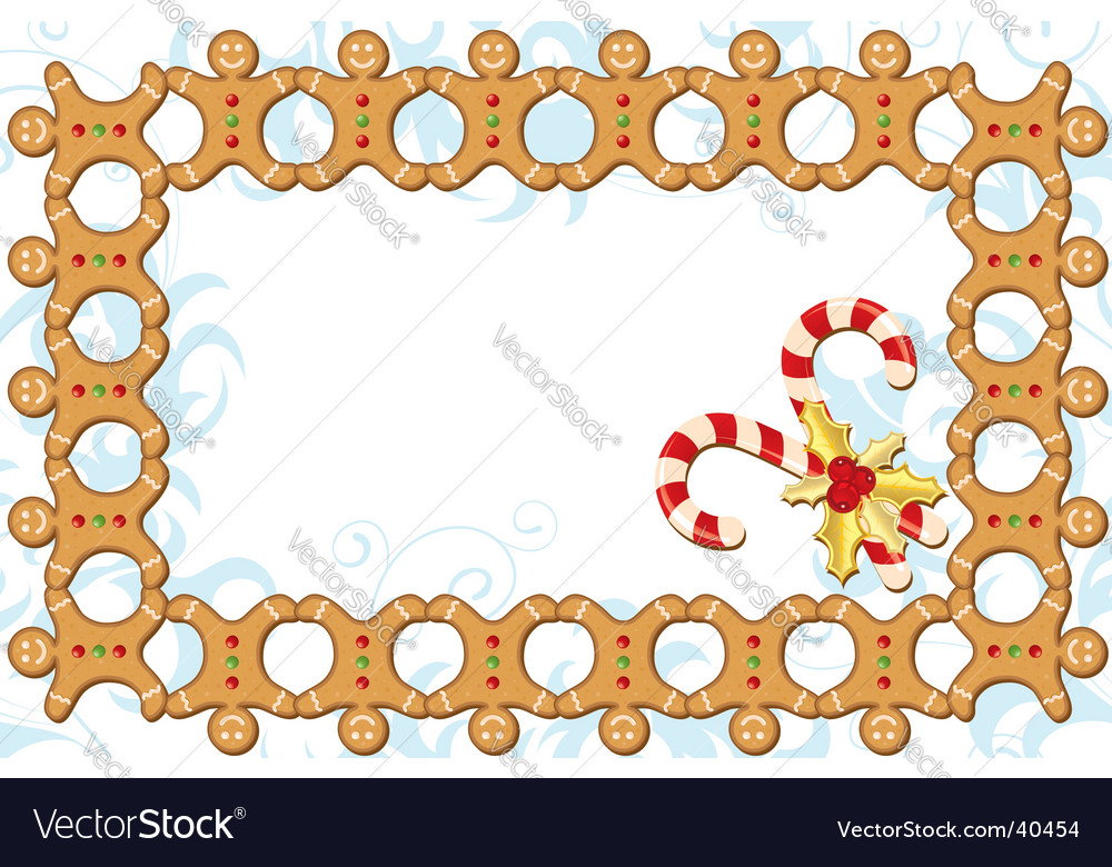 Gingerbread boarder vector | Price: 1 Credit (USD $1)