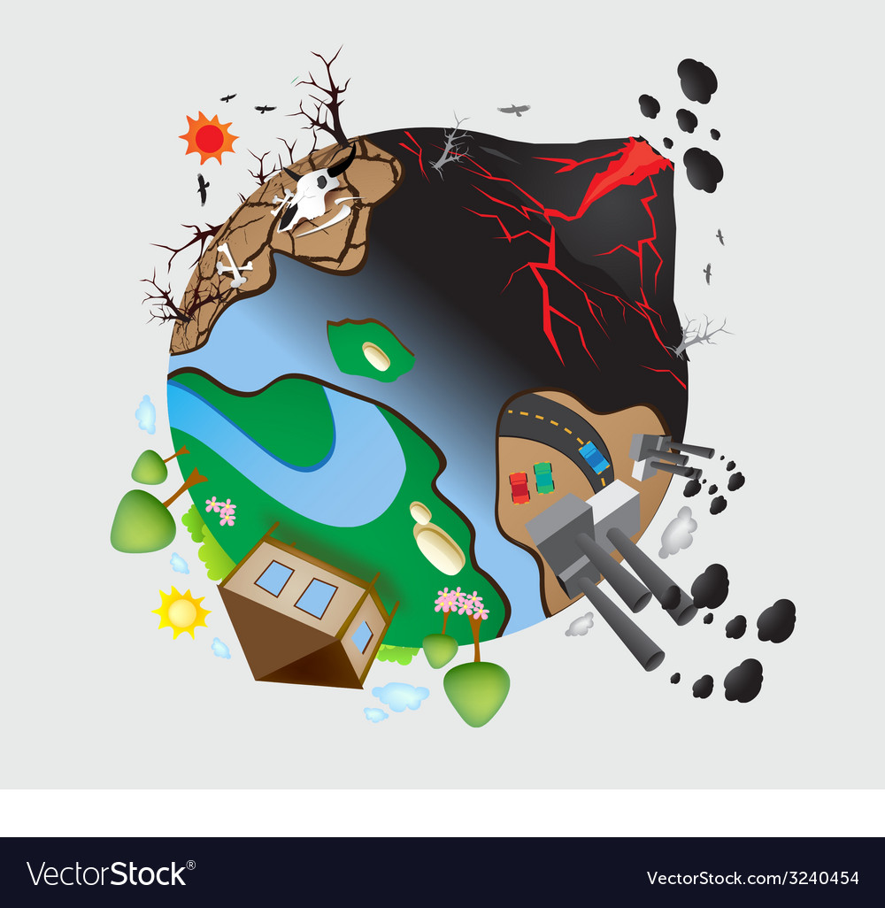 Global warming design 08 vector | Price: 1 Credit (USD $1)